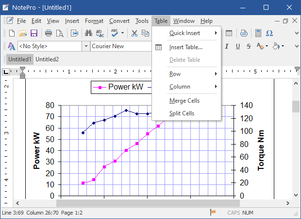 Notepro crystal office systems - How to create a table in wordpad ...
